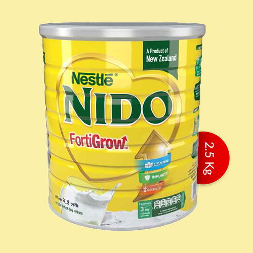 Nestle NIDO Fortigrow Full Cream Milk Powder TIN  2.5 kg