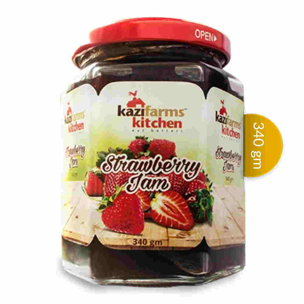 Kazi Farms Kitchen Strawberry Jam 340 gm