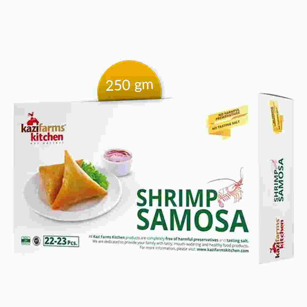 Kazi Farms Kitchen Shrimp Samosa (22-23 pcs) 250 gm