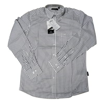 Formal Cotton Shirt- white and black