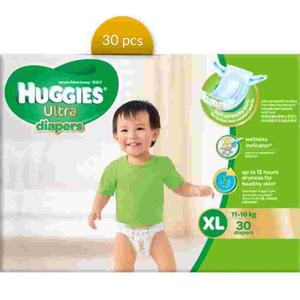 Huggies Baby Diaper Ultra Belt XL 11-16 kg 30 Pcs