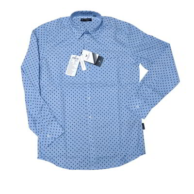 Formal Cotton Shirt (doted design) blue