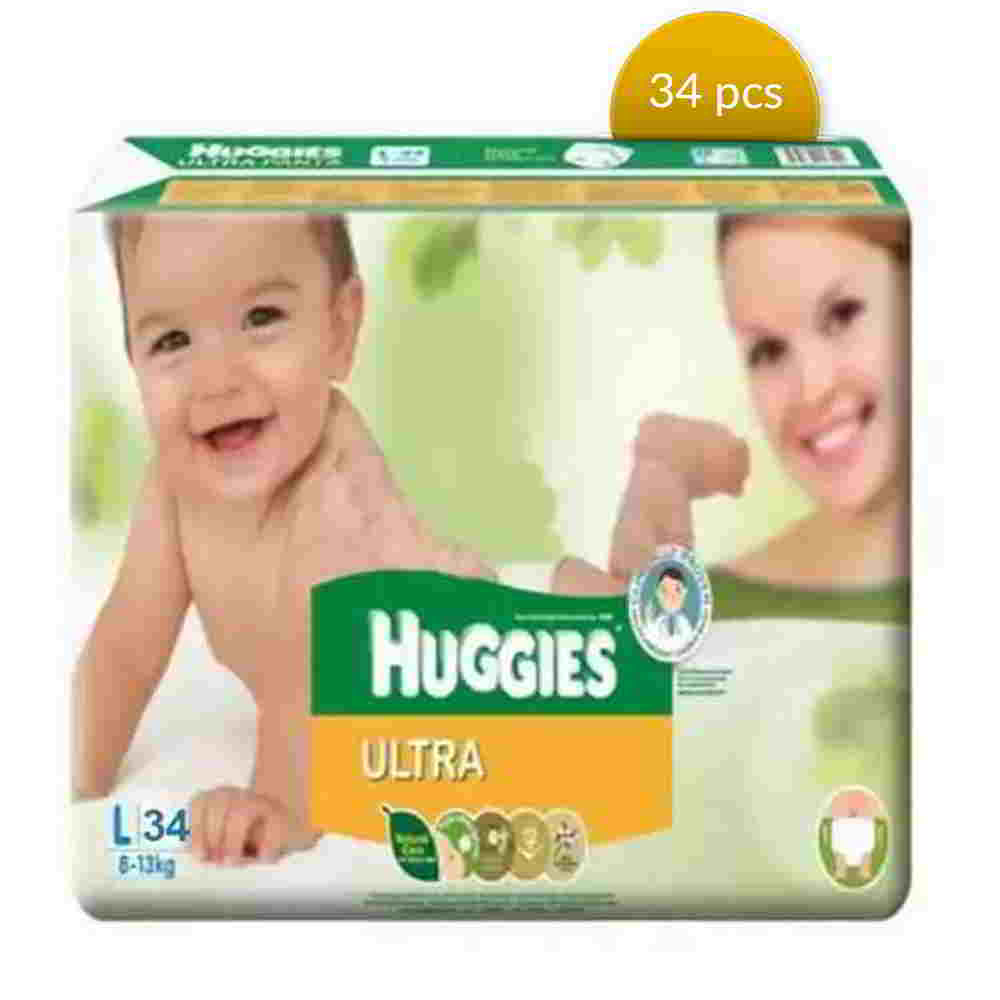 Huggies Baby Diaper Ultra Belt L 8-13 kg 34 Pcs