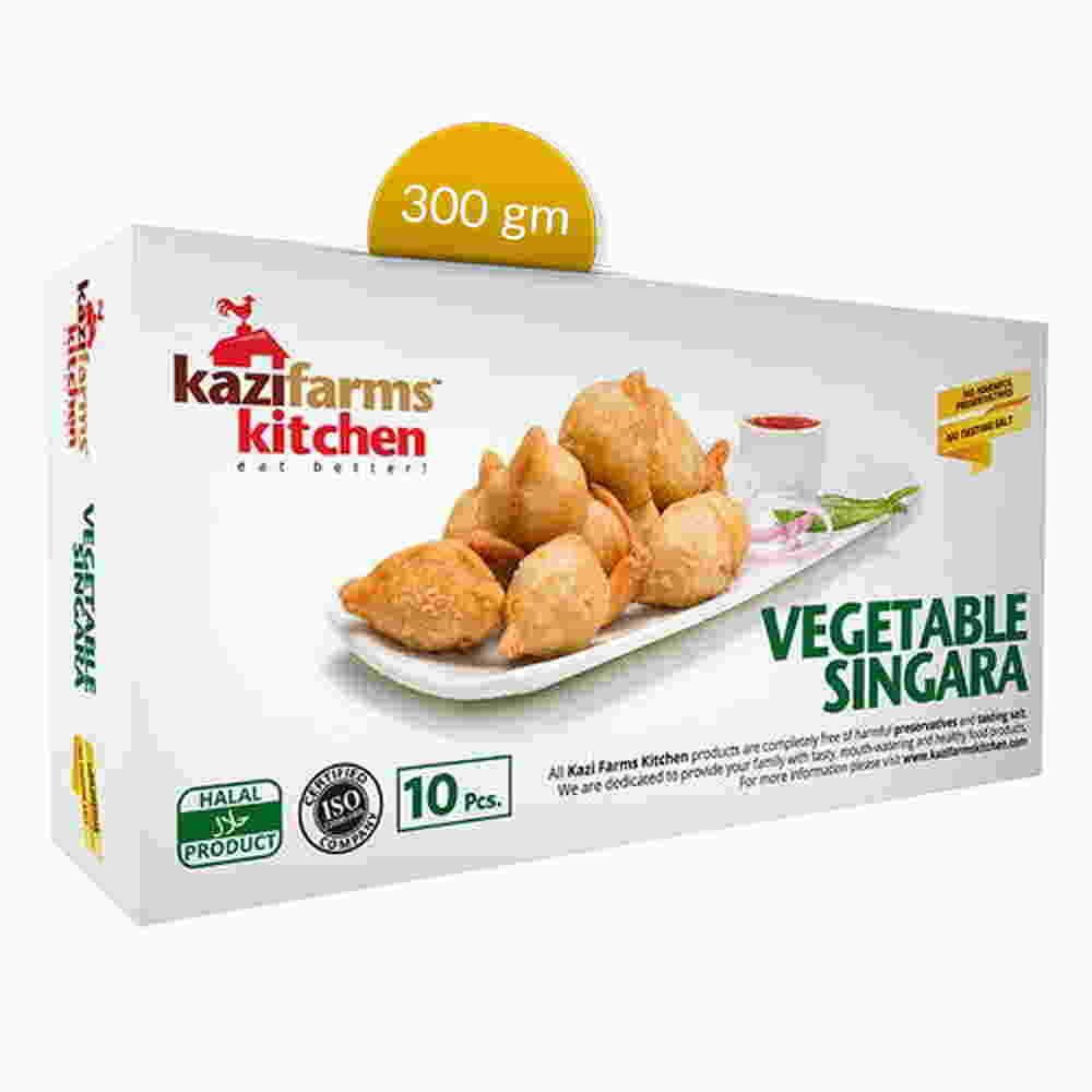 Kazi Farms Kitchen Vegetable Singara 10 pcs 300 gm