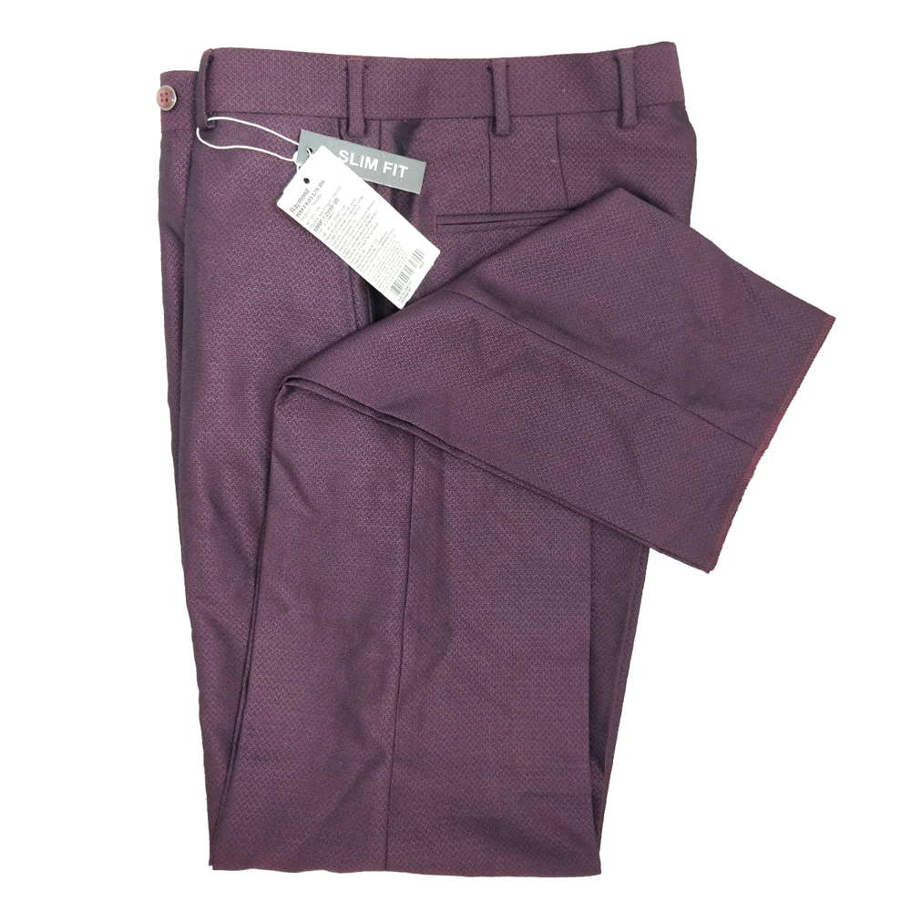 Slim Fit Formal Pant For Man - Light Maroon Colour