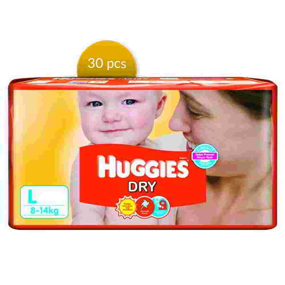 Huggies Dry Baby Diaper Belt L 8-14 kg 30 Pcs