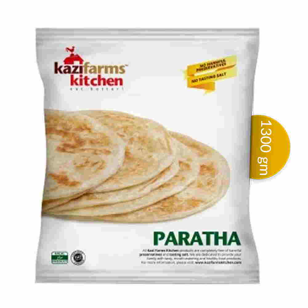 Kazi Farms Kitchen Plain Paratha Family 20 pcs 1300 gm