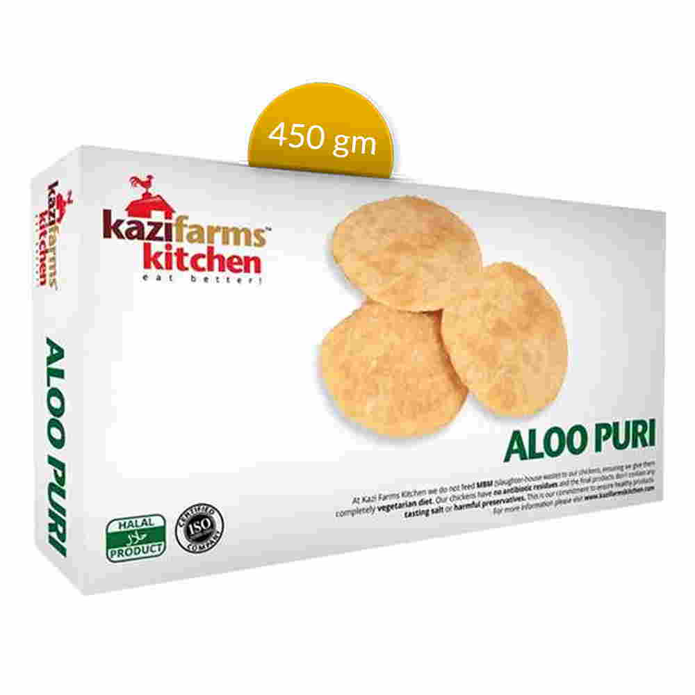 Kazi Farms Kitchen Aloo Puri 10 pcs 450 gm