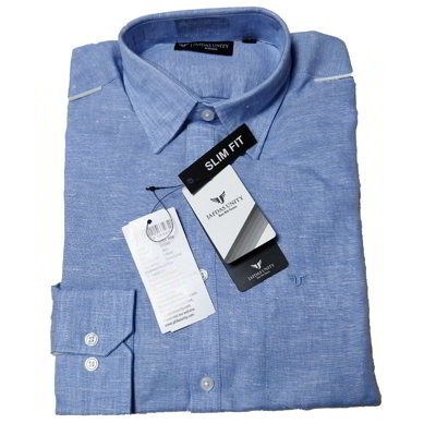 Formal Cotton Shirt- Ocean blue