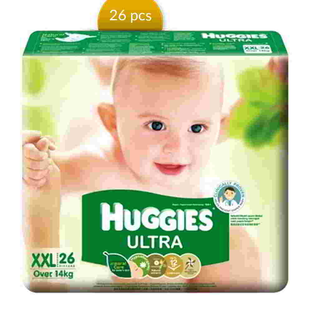 Huggies Baby Diaper Ultra Belt XXL Over 14 kg 26 Pcs