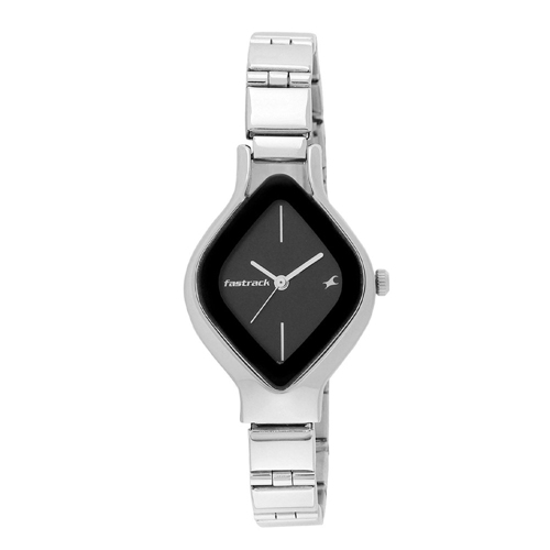 Fastrack Analog Black Dial Women's Watch AS6109SM02