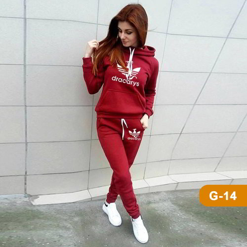 Hoodie and Sweatpants Set for Winter G-14