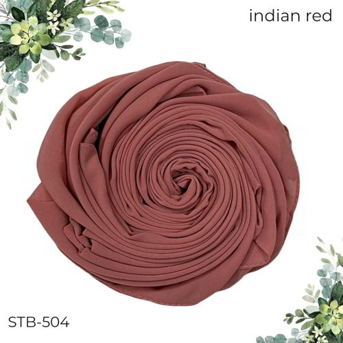 Plain Chiffon Hijab STB-504 Indian Red