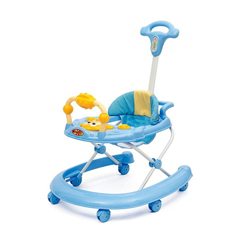 Baby Rocking Walker with Handle- Blue