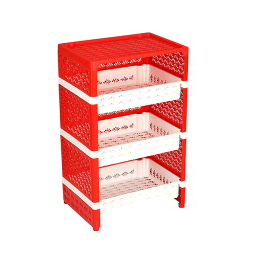 Family Rack 3 Step with Lid - Red