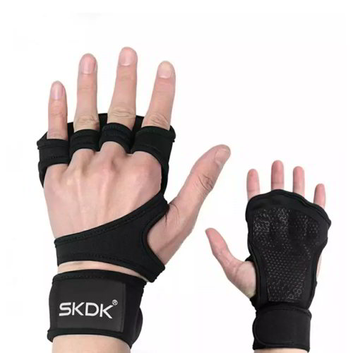 Sports Crossfit Bodybuilding Weightlifting Non-slip Gym Gloves Fitness Workout Training